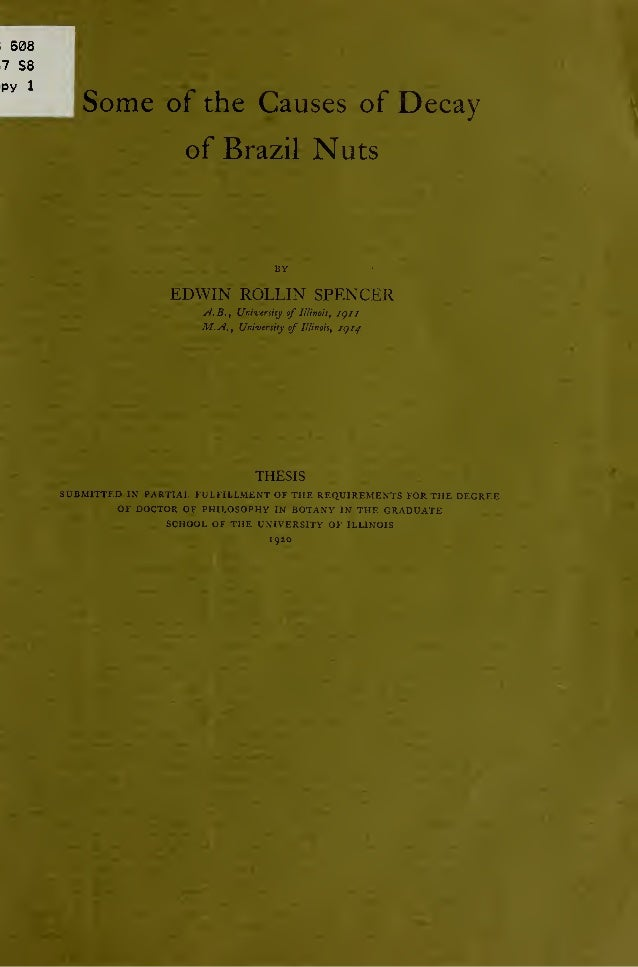 Some of the Causes of Decay of Brazil Nuts; by Edwin Rollin Spencer (1920)