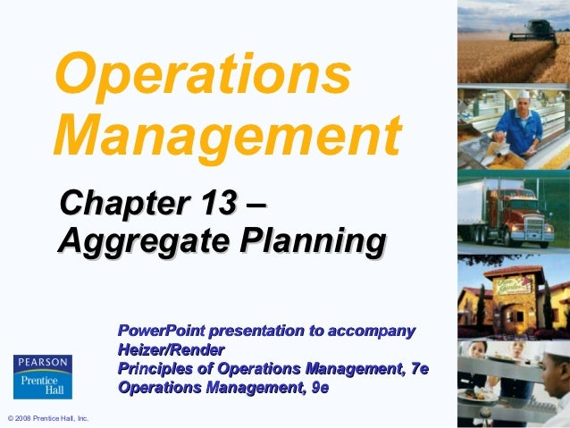 Operations             Management               Chapter 13 –               Aggregate Planning                             ...