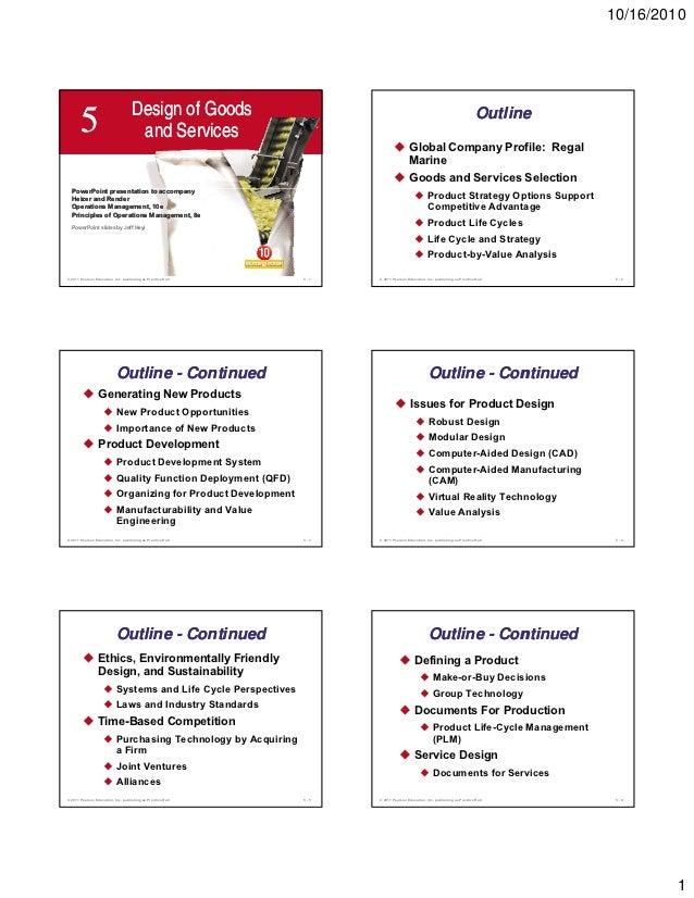 10/16/2010                                    Design of Goods                                                             ...