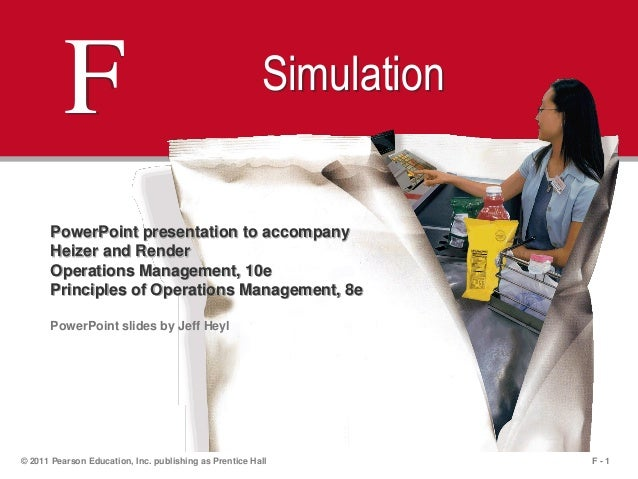 F - 1© 2011 Pearson Education, Inc. publishing as Prentice HallF SimulationPowerPoint presentation to accompanyHeizer and ...