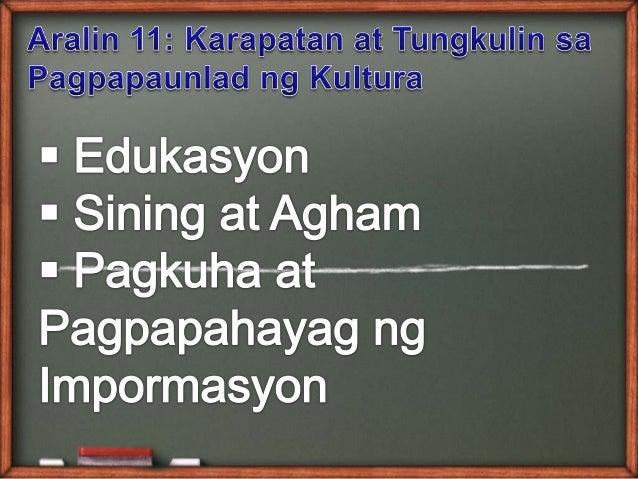 Karapatan at Tungkulin sa Kulturang Pilipino