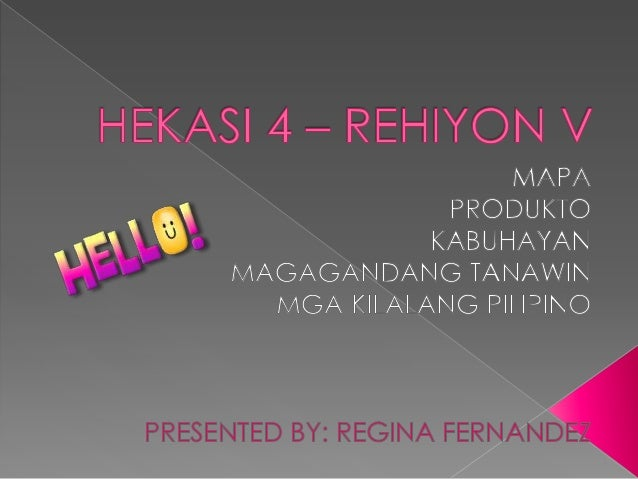 HEKASI 4 - Rehiyon V