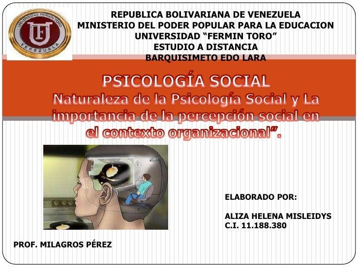 REPUBLICA BOLIVARIANA DE VENEZUELA            MINISTERIO DEL PODER POPULAR PARA LA EDUCACION                      UNIVERSI...