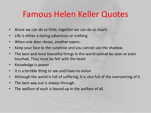 Helen Keller Three Days to See - Mega Essays