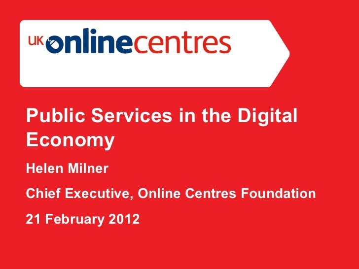Public services in the digital economy