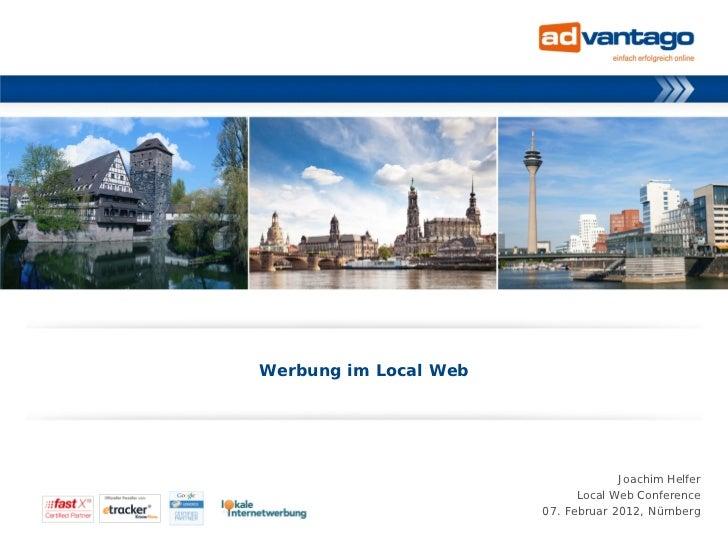 Werbung im Local Web                                                                                    Joachim Helfer    ...