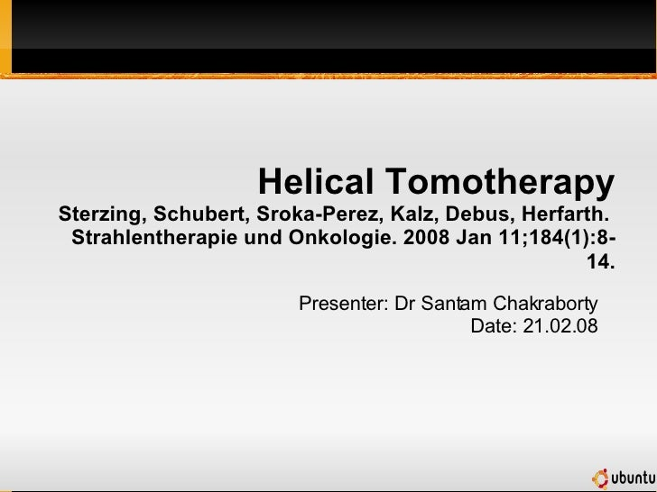 Helical Tomotherapy