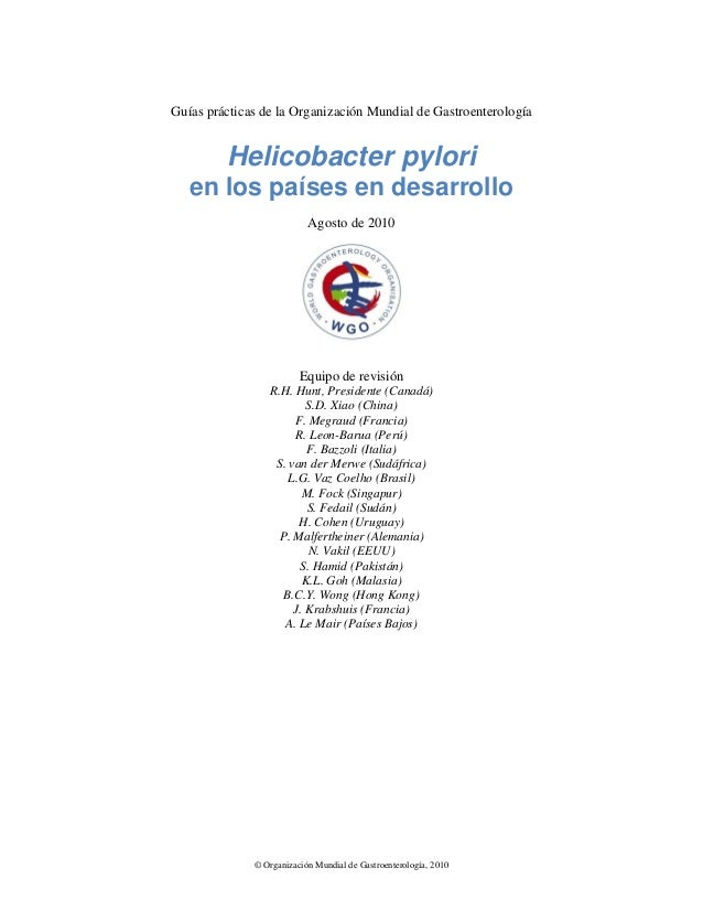 Helicobacter pylori en los países en desarrollo