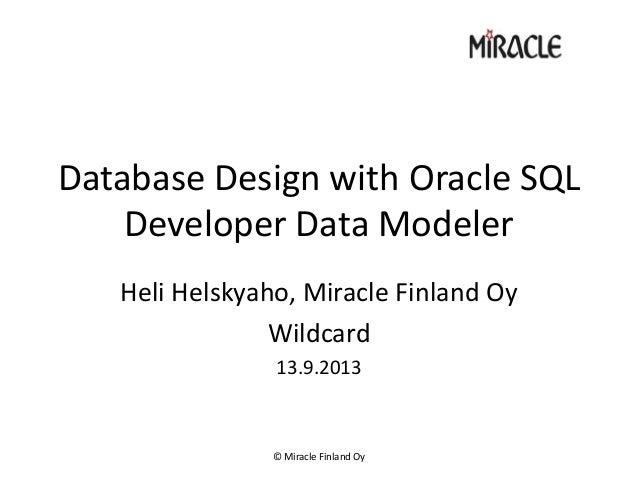 Heli data modeler wildcard2013
