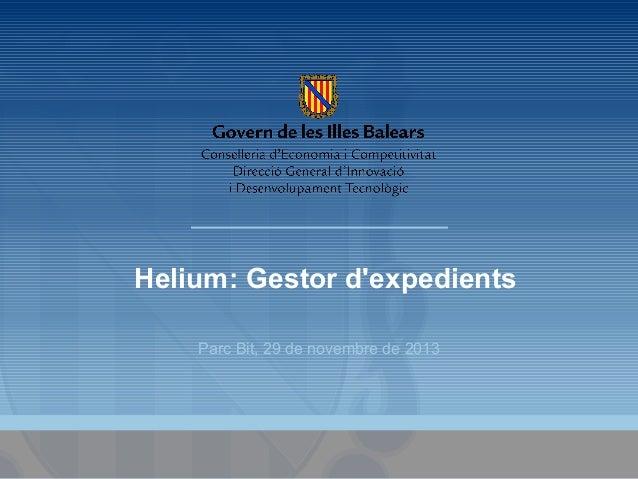 Helium: Gestor d'expedients Parc Bit, 29 de novembre de 2013