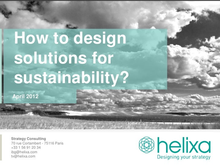 How to design solutions for sustainability (04 18 2012)