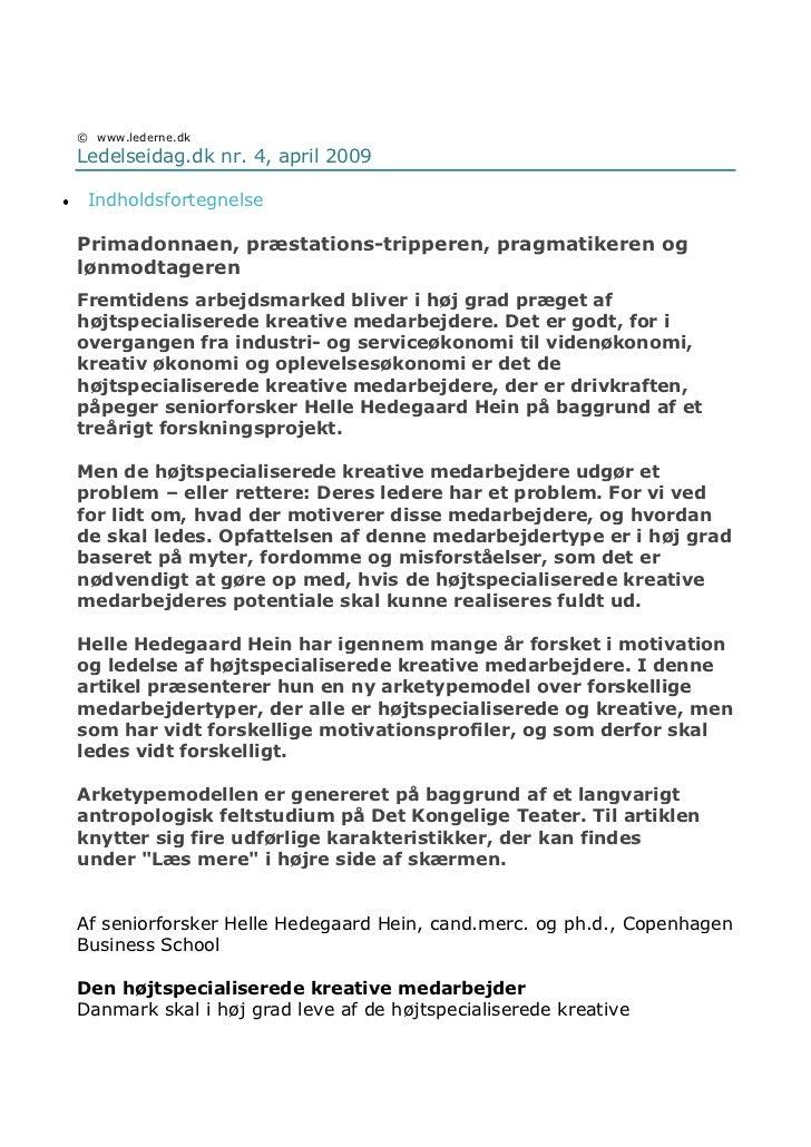 Øverst på formularen<br />©www.lederne.dk <br />Ledelseidag.dk nr. 4, april 2009<br />Indholdsfortegnelse <br />Primadon...