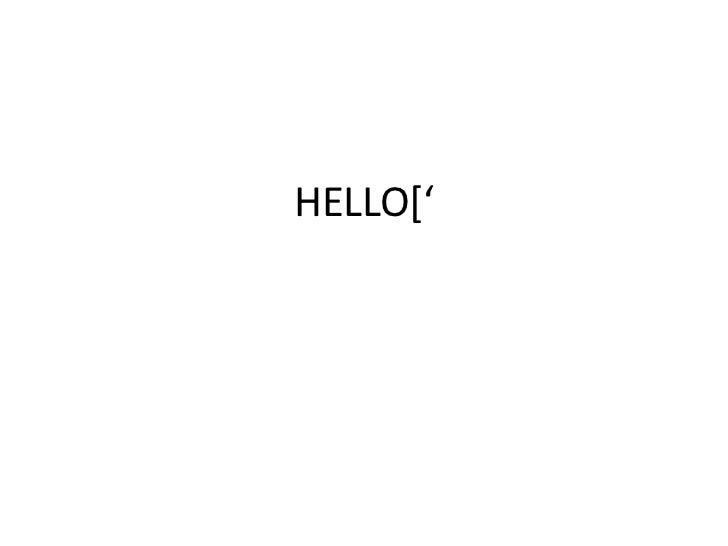 HELLO['<br />