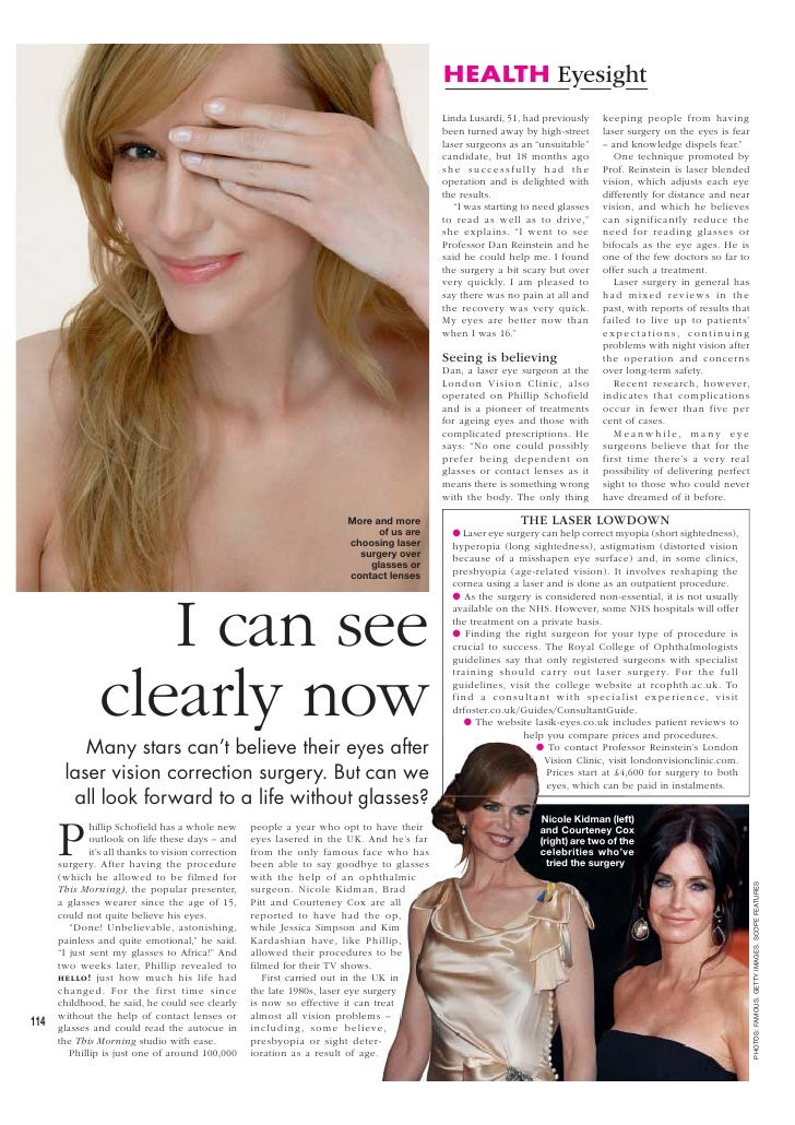 HEALTH Eyesight                                                                                              Linda Lusardi...