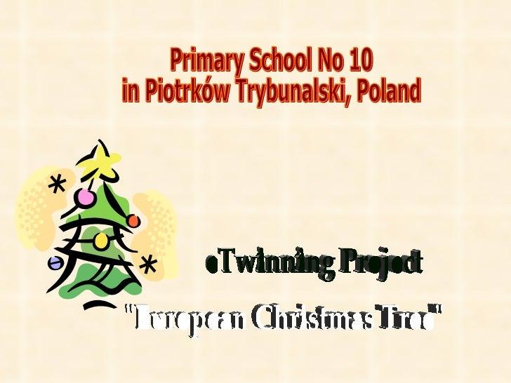 "Primary School No 10  in Piotrków Trybunalski, Poland ""European Christmas Tree"" eTwinning Project"