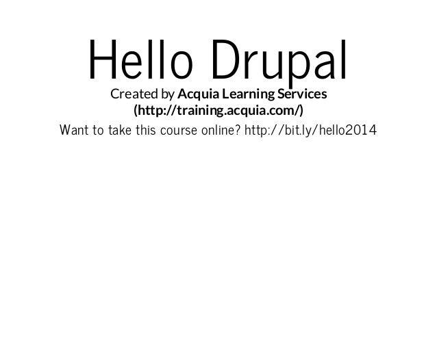 Hello Drupal!