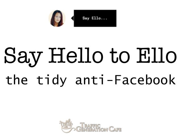 Say Hello to Ello: the tidy anti-Facebook