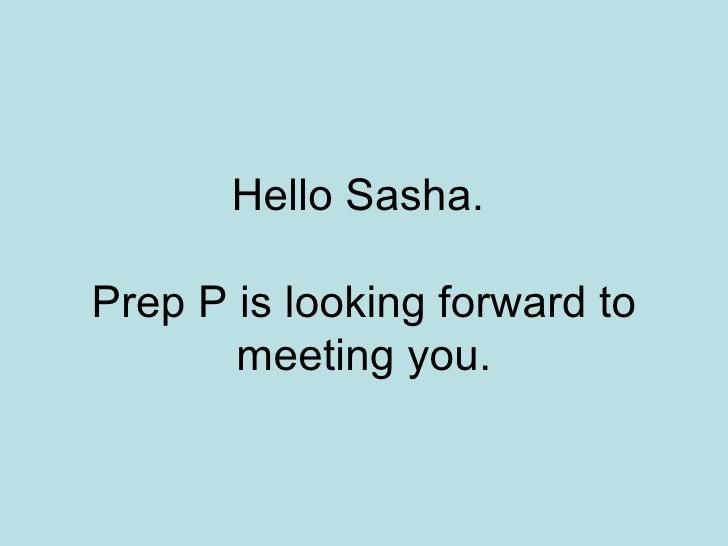 Hello Sasha
