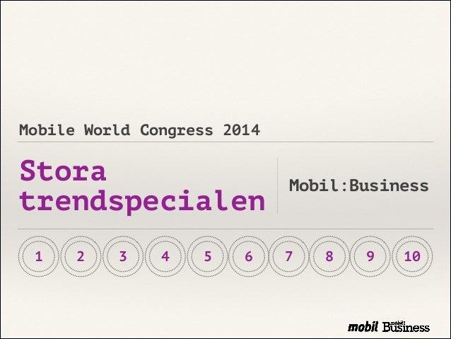Mobil Business: Stora Trendspecialen 2014