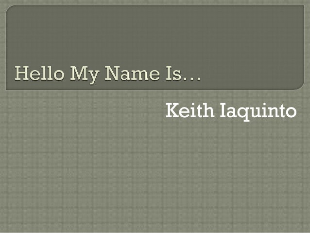 Keith Iaquinto