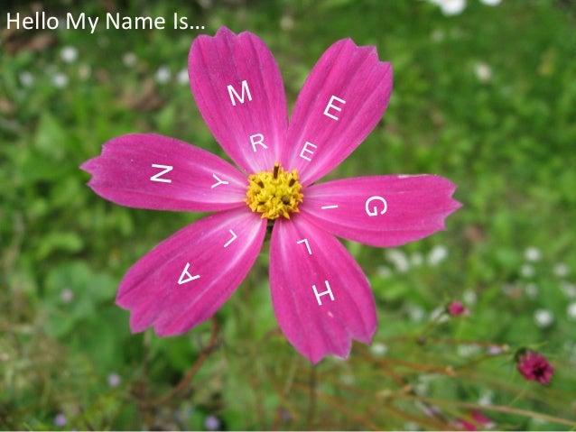 M E G H A N Hello My Name Is… R E I LL Y