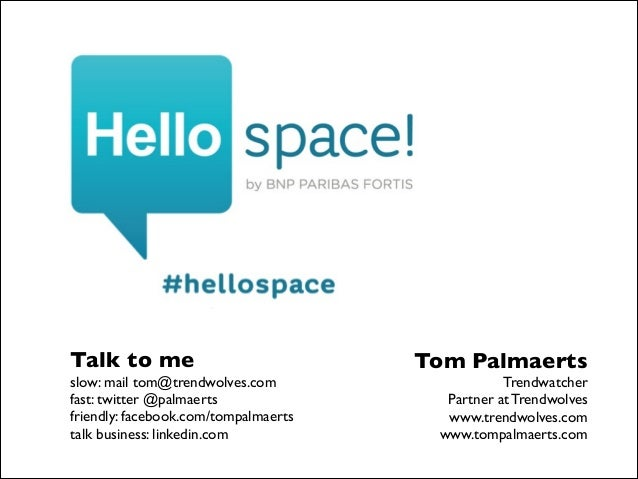 Talk to me   slow: mail tom@trendwolves.com  fast: twitter @palmaerts  friendly: facebook.com/tompalmaerts  talk busin...