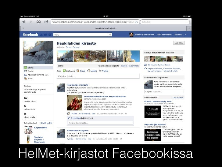 HelMet-kirjastot Facebookissa