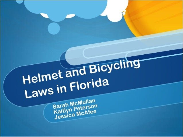 Helmet and bicycling laws in florida