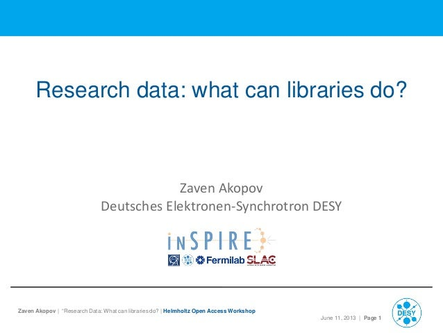 Research data: what can libraries do?