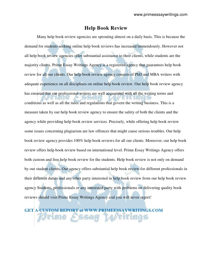 essay on the book the help