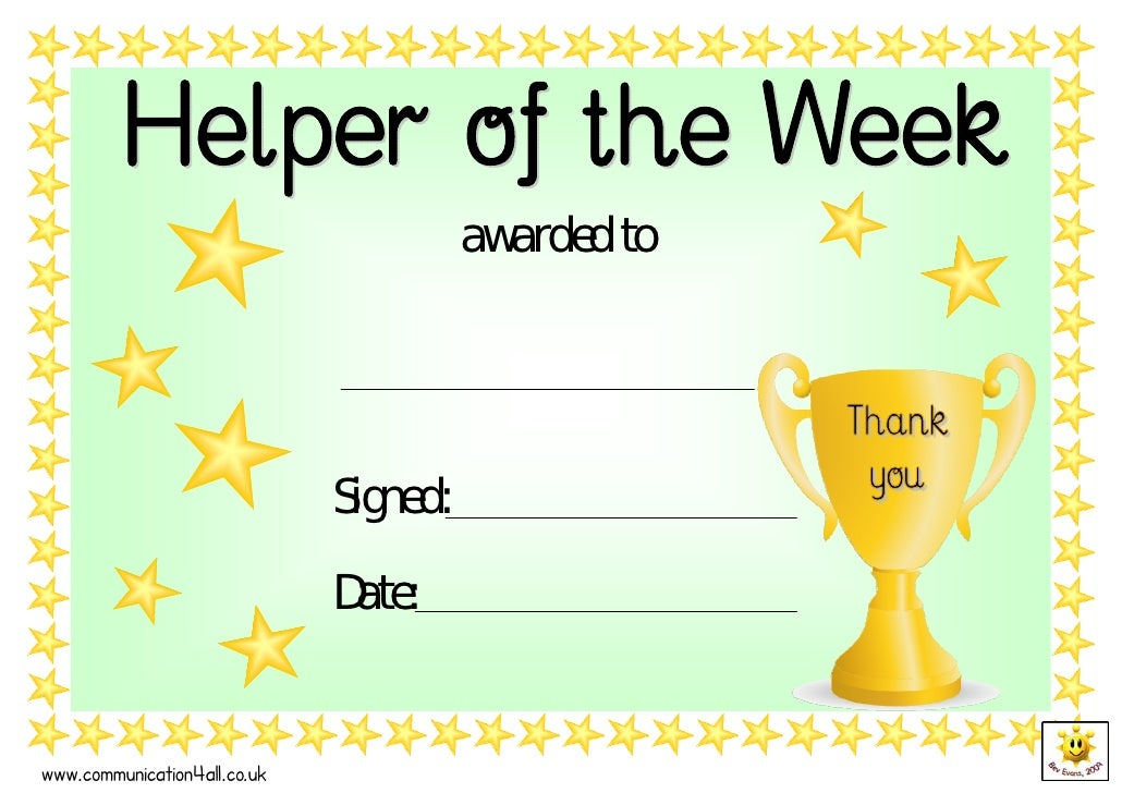 Award Certificate Template For Kids