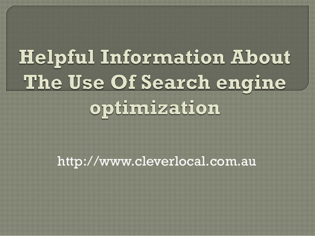 Helpful information about the use of search engine