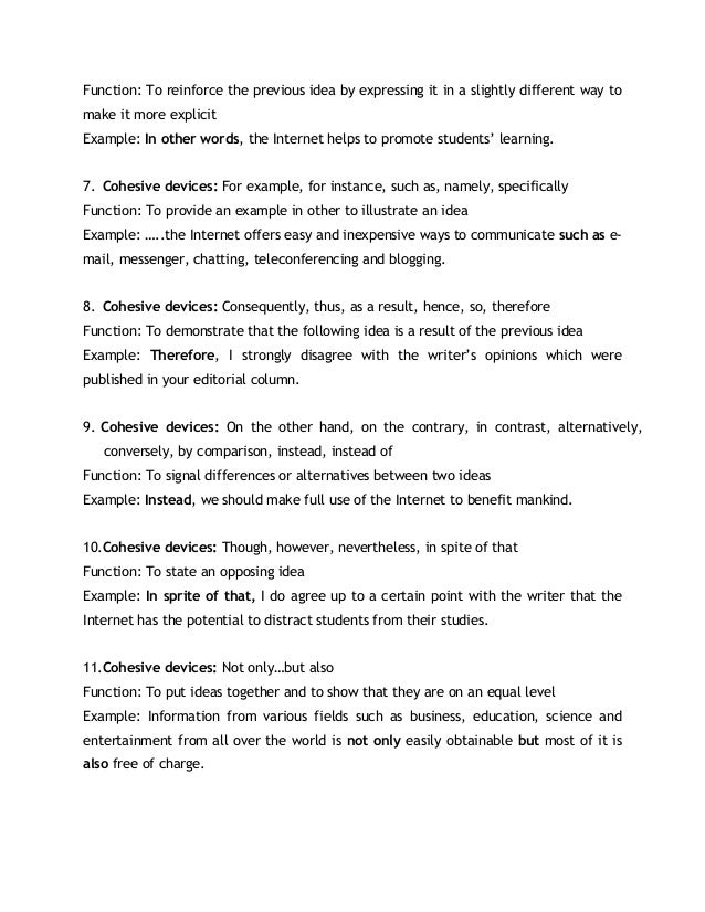 Essay Writing Expressions