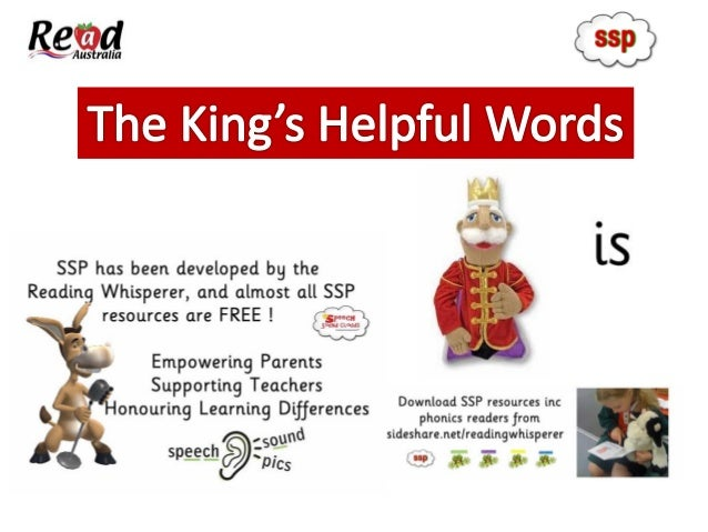 The helpful words are used as students progress through the 4 SSP Levels. Download free resources from slideshare.net/ rea...