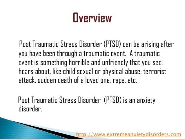 Post Traumatic Stress Disorder Essay