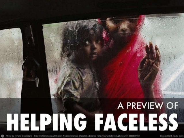 """A preview of """"Helping faceless"""""""