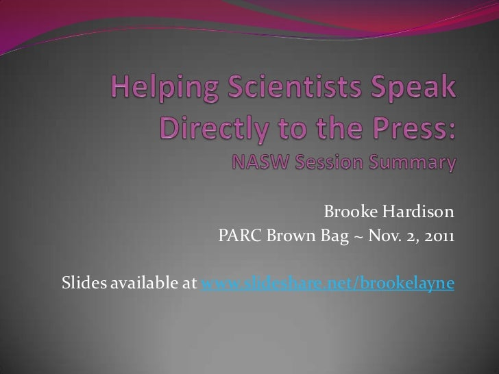 Helping scientists speak directly to the press