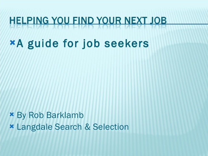 Helping You Find Your Next Job