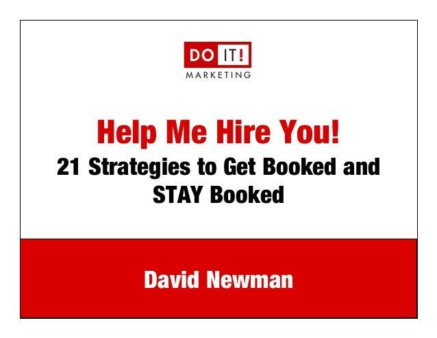 Marketing Speaker David Newman NSA-NYC 3/21/14