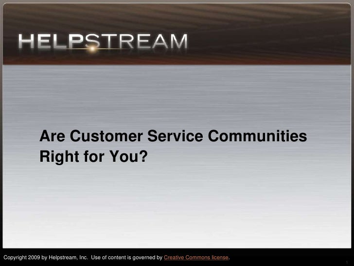 Helpstream  Are Customer Service Communities Right For You?