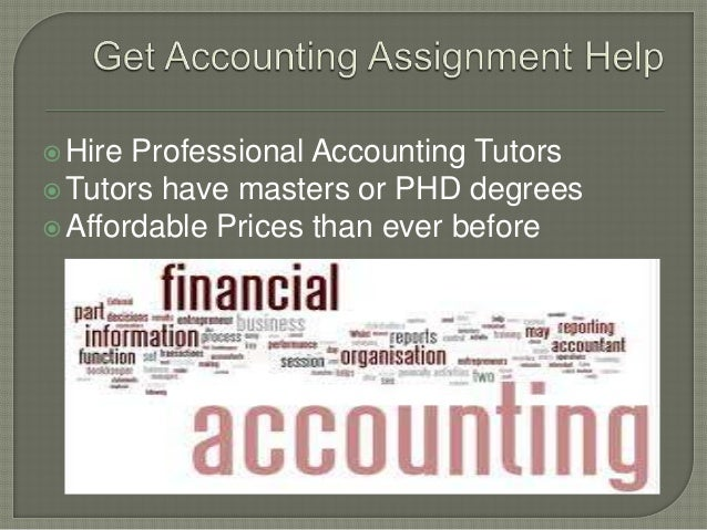 Accounting homework solutions