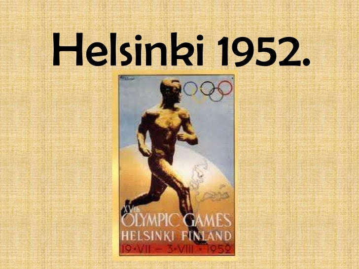 Helsinki 1952.