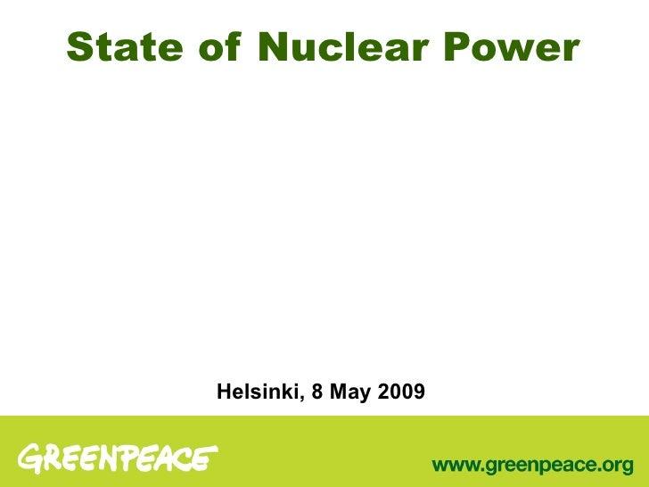 Presentation of Jan Beranek in Greenpeace Nuclear Waste Seminar, Helsinki 2009