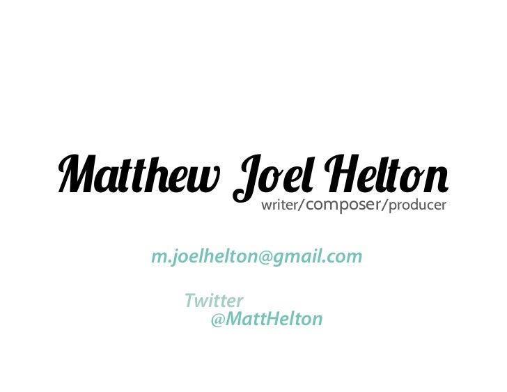 Helton matthewvisualresume