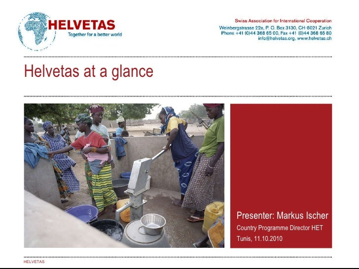 Helvetas 2010 - at a glance