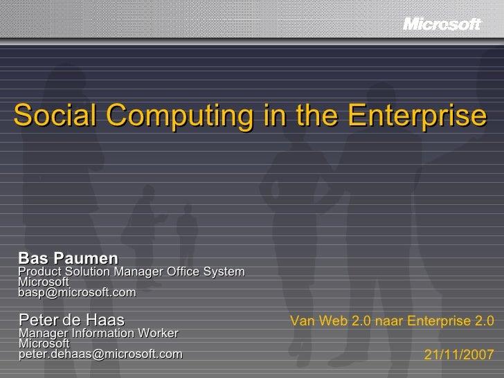 Helview   Microsoft Platform For Social Computing   21 11 2007   Final   Ppt2k3