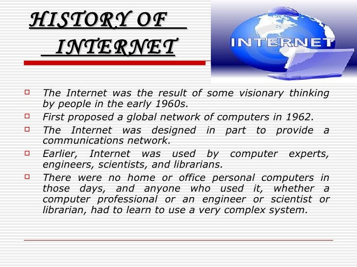 Short essay on history of internet