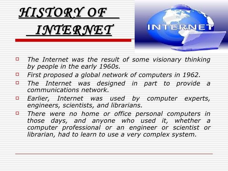 Short essay on history of internet