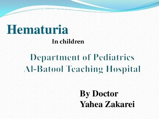 Hematuria in children