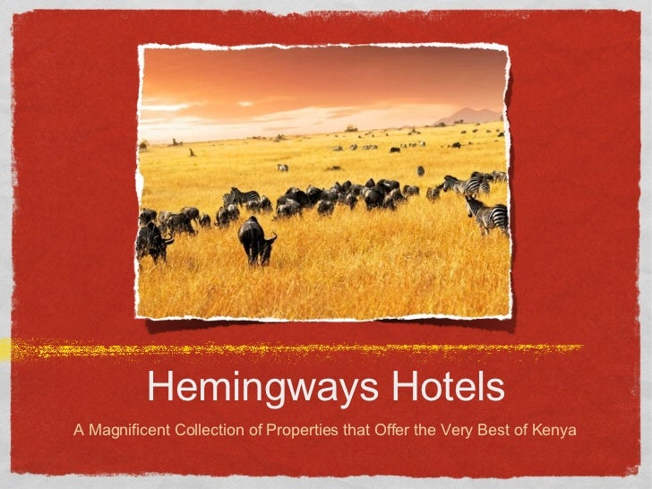 Hemingways Hotels Collection - PowerPoint